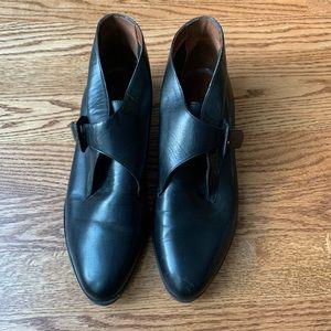 Vintage Unisa Black Leather Booties | Sz 6.5